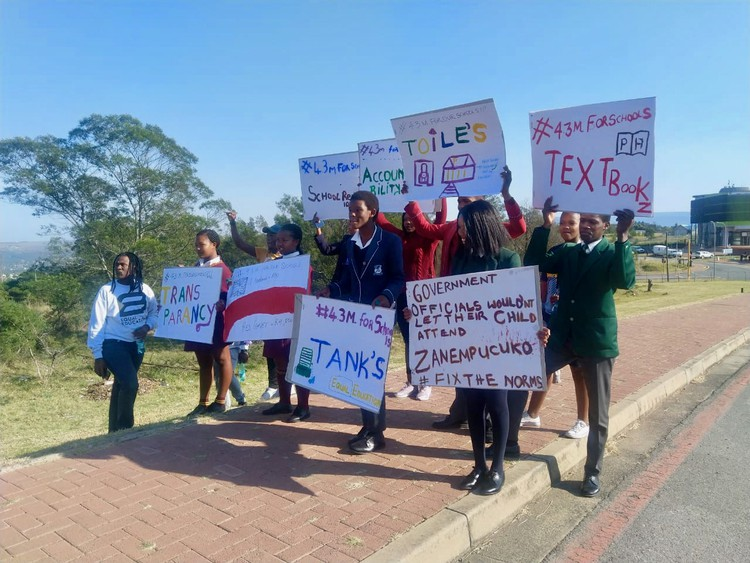 Equal Education pickets outside Eastern Cape State of the Province address